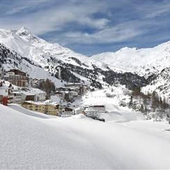 Ortsbild Obergurgl-Hochgurgl im Winter